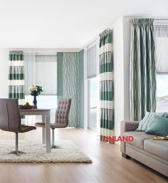 Unland Malvin, Fensterideen, Gardinen und Sonnenschutz - curtains, contract fabrics, pleated blinds, roller blinds and more. Made in Germany