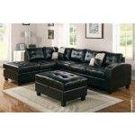 Acme Furniture - Kiva 2 Piece Left Facing Bonded Leather Sectional Sofa Set in Espresso - 51200B-SEC