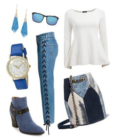 """""""Blue days"""" by loril4 on Polyvore featuring Jérôme Dreyfuss, Aquatalia by Marvin K., ESCADA, Akribos XXIV, Alexis Bittar and Ray-Ban"""