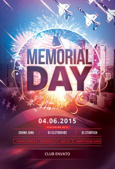 Memorial Day Flyer by styleWish (Buy PSD file - $9) #design #poster #graphic