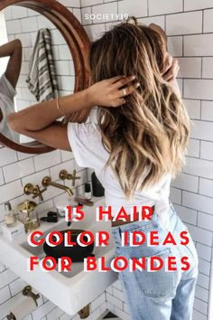Hair Color Ideas, 15 Hair Color Ideas For Blondes New Hair Trends, Shades Of Blonde, Fashion Beauty, Beauty Style, White Blonde, Strawberry Blonde, New Hair Colors, Platinum Blonde, Great Hair