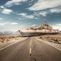Ship in the desert ~ Leo Caillard