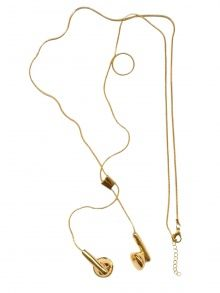 oneluv- gold plated, just like music necklace