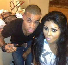 Donovan Lamar and Lil Kim. Her make up is flawless!!!!