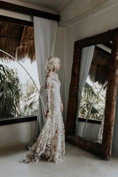 New Arrival Long Sleeves Boho Wedding Dresses Bridal Dress Boho Wedding Dress, Wedding Attire, Wedding Tips, Mermaid Wedding, Wedding Styles, Bridal Dresses, Wedding Gowns, Dream Wedding, Wedding Cakes