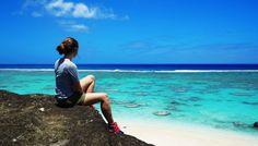 Lauren in Rarotonga, the Cook Islands