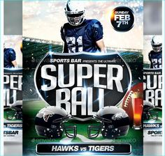 Football Flyer Bundle  Party Flyer Templates For Clubs Business