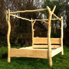 DRIFTWOOD FOUR POSTER TREE BED ❤ KING SIZE, DOUBLE, SUPER KING HANDMADE TO ORDER