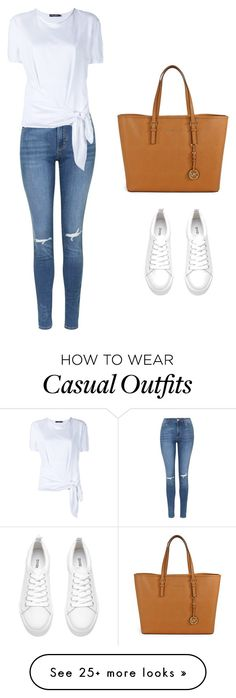 """Casual"" by louisamorris on Polyvore featuring Topshop, Dolce&Gabbana and Michael Kors"