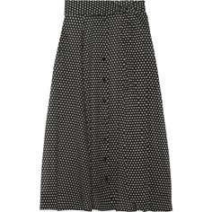 Lisa Marie Fernandez Polka-dot cotton maxi skirt (40.980 RUB) ❤ liked on Polyvore featuring skirts, black, black and white long skirt, high waisted long skirts, long slit skirt, long polka dot skirt and slit maxi skirts