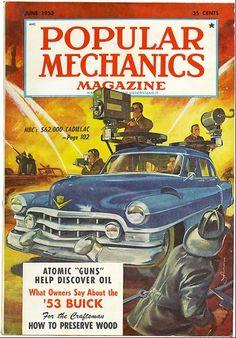 "Popular Mechanics magazine 1953 , ""Atomic ""guns"" help discover oil"""