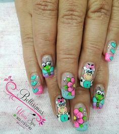 Nail Art Designs Videos, Cute Nail Designs, Cute Nails, Pretty Nails, La Nails, Feet Care, Nail Arts, Summer Nails, Pedicure