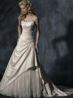 Carol-Vestido de Noiva em cetim - dresseshop.pt