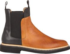 $775, Maison Martin Margiela Bi Color Chelsea Boots. Sold by Barneys New York. Click for more info: https://lookastic.com/men/shop_items/99273/redirect