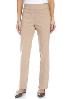 Alfred Dunner Stone Petite Just Peachy Stretch Short Pant