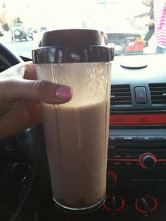 PB2 Chocolate Protein Shake--I tweaked it for 2-3 points--I used 1 scoop protein powder, I added a little cocoa powder and 1/2 frozen banana.