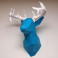 Голова оленя из бумаги 3D