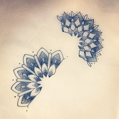 mandala wrist tattoo :: id get them behind my ears                              …