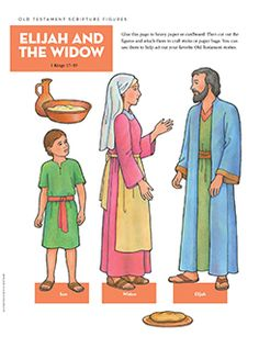 Scripture Figures, Elijah and the Widow