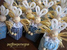 coniglietti bomboniere battesimo | rabbit favors