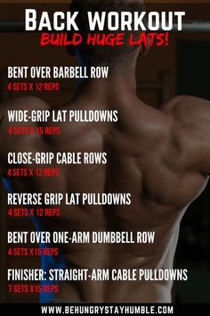 Check out this article to learn more about how to train your back for more muscle. Learn specific exercises to help you build a wider and thicker back most effectively! It includes a back workout and descriptions of back exercises. Back Workout Routine, Back Workout Men, Biceps Workout, Back Workouts For Men, Chest And Back Workout, 300 Workout, Traps Workout, Cable Workout, Ace Fitness