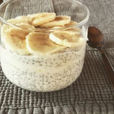coconut chia pudding...I used regular water and regular vanilla extract