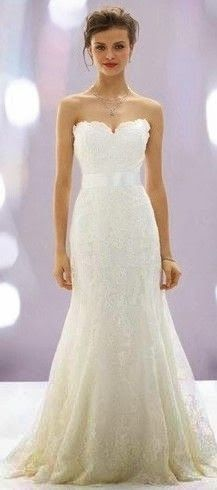 Lace sleeveless bridal gown its amazing just love it