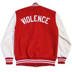 Pardon Le Dopeness - PLD - Violence varsity jacket back