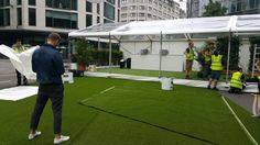 Client looks on at #arttragrass #artificialgrass #london #mrporternocturne #mrporter #londonnocturne #greencarpetevents