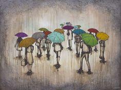 """Carrying Hope"" - 30""x 40"" - Acrylic on Panel by Kendra Baird Runnels  kendrastudios.com"