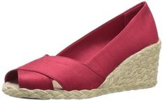 Lauren Ralph Lauren Women'S Cecilia Wedge Sandal,Deep Red,7.5 B Us