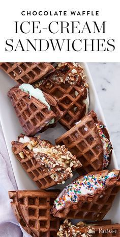 Make your own chocolate waffle ice-cream sandwiches and prepare to have the best summer party ever. Get the recipe here.