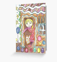 Gingerbread house Greeting Card Snowy Forest, Snowy Trees, Winter Illustration, Illustration Art, Beard Winter, Christmas Art, Christmas Wreaths, Winter Fairy, Green Palette