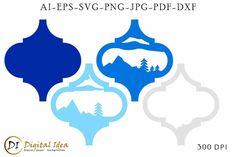 Arabesque Tile 3d . Lantern SVG Cut File.Layered papercut (1046705) | Cut Files | Design Bundles Christmas Tag, Christmas Crafts, Christmas Ornaments, Arabesque Tile, 3d Craft, Svg Cuts, School Design, Decor Crafts, Wooden Signs