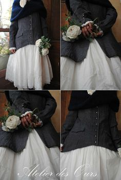 MLLE GARANCE : Robe et veste redingote JAYKO, écharpe bouclette JAYKO.