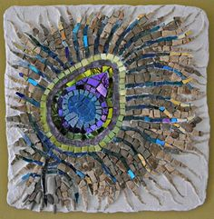 Peacock Feather Mosaic by Deb Aldo Artist in Residence Ocober/November 2015
