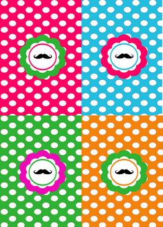 Mustache Polka Poster: Mix