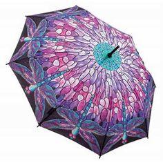 Galleria Art Print Walking Length Umbrella - Tiffany Dragonfly; Price: £25.00.