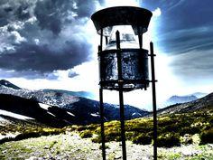 un pluviometro apunto de despegar