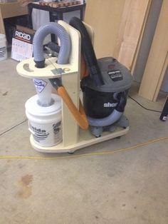 Shop vac and cyclone separator cart