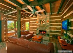Little Bear - Beautiful Mountain View - This cabin is just gorgeous! With beautiful walls and ceilings. Click here to see many more pictures: http://www.cabinfevervacations.com/cabin-detail/?cid=1260