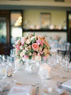 Gorgeous florals in this California wedding: | Read more: http://www.stylemepretty.com/2014/09/16/romantic-hillside-wedding-in-san-clemente/ | Photography: Kurt Boomer - http://kurtboomer.com/