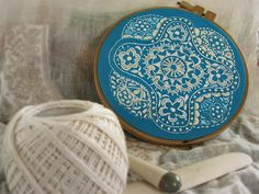 """Found via Carina at Feeling Stitchy, who posted """"Doilies, not just for crocheters."""""""