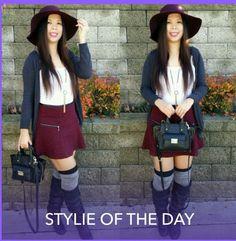 Fashom user Judithlovesavi looking stylish in her skirt on the fashom app.