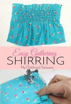 Look in any kids boutique and you will see all sorts of clothing with shirring elastic. Sewing with elastic thread is easy with this step by step tutorial.