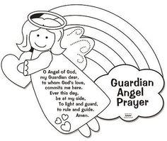 Color Your Own Guardian Angel Prayers Arts Crafts Coloring Sheet For Kids More Information Visit Image Link