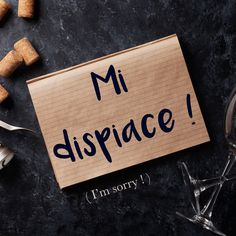 Frase della settimana / Phrase of the week: Mi dispiace! (I'm sorry!). Learn more about this phrase by visiting our website! #italian #italiano #italianlanguage #italianlessons Italian Grammar, Italian Vocabulary, Italian Phrases, Italian Words, Italian Quotes, Italian Language School, Basic Italian, Learning Languages Tips, Everyday Italian