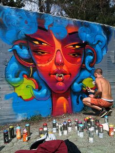 The Divine Poison by Georgi Dimitrov #streetart #art #graffiti #dope