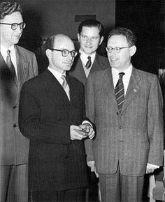Vassily Smyslov David-Bronstein Paul Keres and Mikhail Botvinnik at the Olympiad Amsterdam in1954