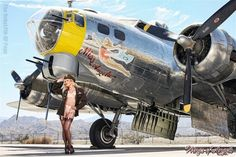 CLEAR THE RUNWAY!... CAITLIN LITZINGER © Photo by Michael Malak | M A L A K Photography on Facebook Aircraft: Yanks Air Museum | Wardrobe: Secrets in Lace | Ellie Shoes